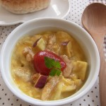 朝ごはんレシピ『ココット皿でレンジ*オムレツ』