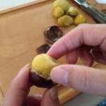 栗の皮むき実験中~☆手が痛くならない方法を紹介します!
