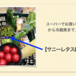 スーパーでお買い物から冷蔵庫まで☆冷蔵庫収納・サニーレタス編